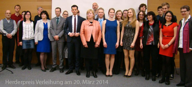 Der Herderpreis am 20. März 2014
