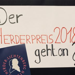 Nominierungen für den Herderpreis 2018- Ihr seid gefragt!